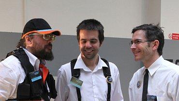 Petr Šourek (uprostřed) s kolegy z CorruptTour.