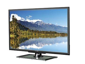 Při pohledu zepředu to možná nevynikne, ale ze šikma je už vidět, že televizor je na danou cenu docela elegantní. Plocha podstavce je opravdové sklo…