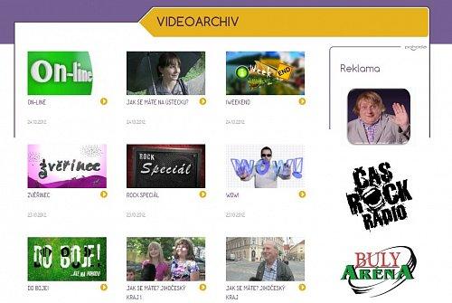 Webové stránky Pohody nabízejí i jednoduchý videoarchiv
