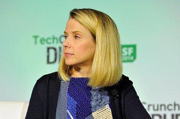 Marissa Mayer na konferenci TechCrunch Disrupt, 10.září 2014