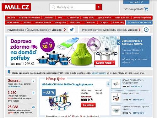 Mall.cz patří k jednomu z nejznámějších interentových obchodů