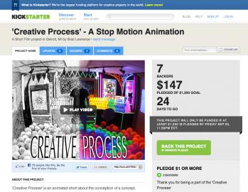 Kickstarter.com: podpořte výrobu animovaného filmíku. Nebo si vyberte něco jiného, kde chcete přispět...