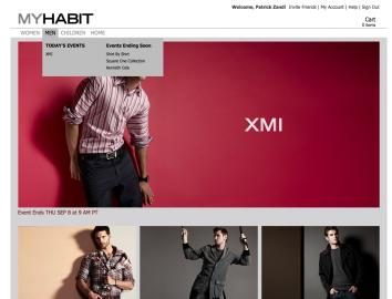 Příkladné je grafické zpracování MyHabit: u oblečení můžete vyzkoušet, jak padnou různé velikosti i si jej prohlídnout ze všech stran a do detailu.
