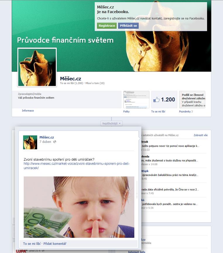 Vzor Facebook