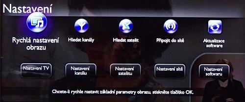 Hlavní menu na tlačítku domečku se stále drží starých zásad, jen ikony jsou trochu jemnější.