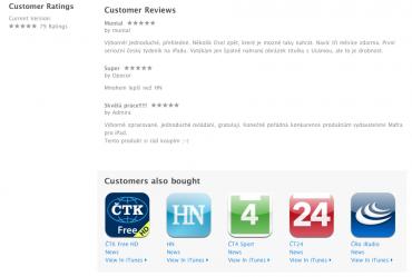 Čtenáři jsou zatím s Respektem v iPadu nadmíru spokojeni.