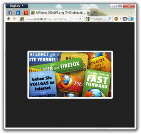 Firefox 11 přinese vylepšené zobrazování samostatných obrázků