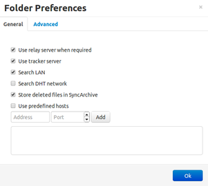 BitTorrent Sync - nastavení adresáře