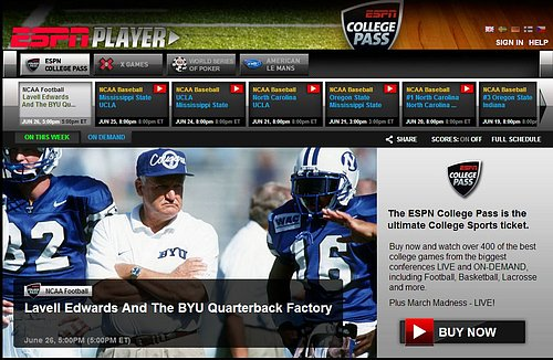 ESPN College Pass v kompletní podobě vyjde ročně na cca. 110 euro. Bude to ochoten český divák akceptovat?