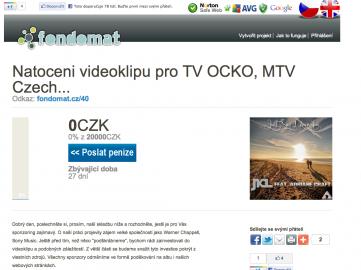 Fondomat: podpořte výrobu videoklipu. Takhle se na něj vybírají peníze.