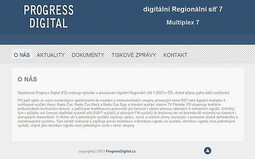 Jednoduché webové stránky operátora Regionální sítě 7