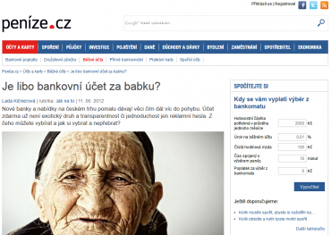 Nové Peníze.cz - Článek