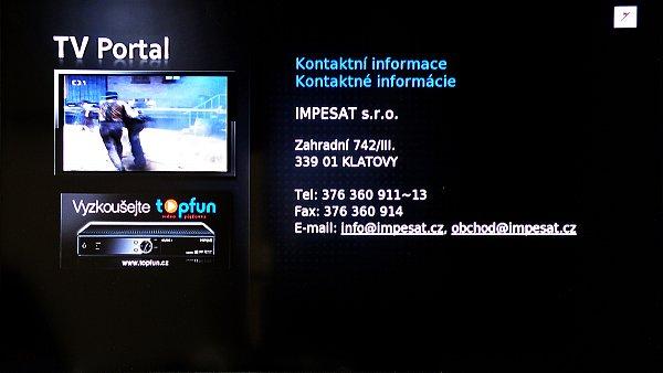 Svůj portál zde má i dovozce tohoto přijímače IMPESAT s.r.o.