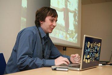Petr Dvořák (Inmite) vedl workshop Protoypování mobilních aplikací