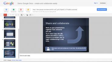 Google Docs - prezentace