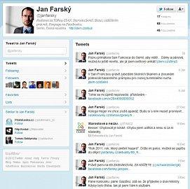 Falešný účet poslance Jana Farského byl poněkud nudný.