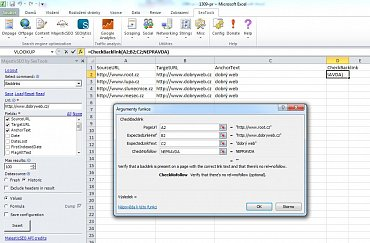 S nástrojem SEO Tool for Excel si udržíte kontrolu nad zpětnými odkazy