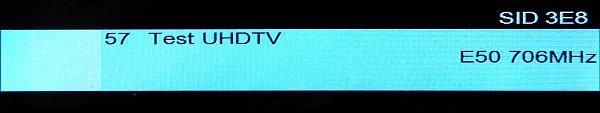 V Praze se podařilo naladit i uložit test UHD TV Českých Radiokomunikací na K 50. Samozřejmě bez obrazu, protože je vysílán již v DVB-T2/HEVC.