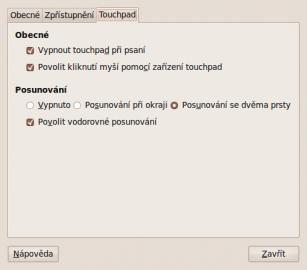 Ubuntu 9.10 touchpad