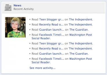 Takto se přečtené články automaticky objevují na novém profilu Timeline