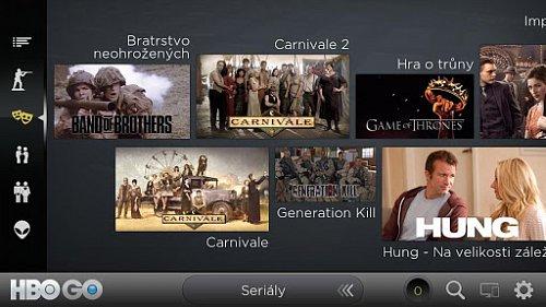 Aplikace HBO GO pro mobilní zařízení s Androidem.