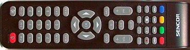 """Dálkový ovladač potěší svými """"dospělými"""" rozměry i když například tlačítko 3D neužijete. Rozložení odpovídá kategorii, takže některá tlačítka jsou odchozena zbytečně daleko od kurzorového kříže, resp. od hlasitosti a přepínání kanálů."""