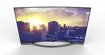 Prohnuté Ultra HD televizory s LCD panely a LED podsvícením představovaly i zcela neznámé firmy. Toto je Medion Life X18028 (140 cm, 3 840 x 2 160 bodů, triple tuner, HDMI 2.0).