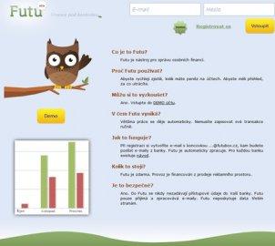 Futu - startovní stránka služby