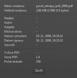 Zobrazení vlastností dokumentu PDF ve Firefoxu