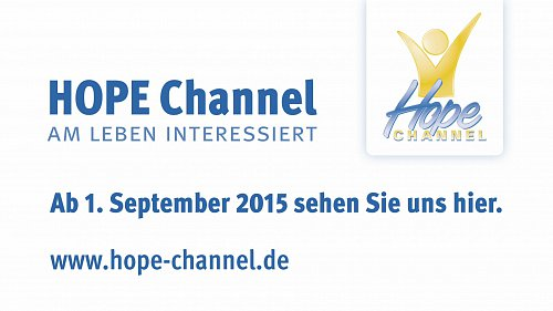 Testovací obrazovka HD verze stanice Hope Channel Deutschland