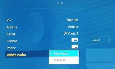 Jde o dvoutunerový televizor, takže tu pracuje opravdový obraz v obraze, tedy PiP. A s řadou dobrých voleb!