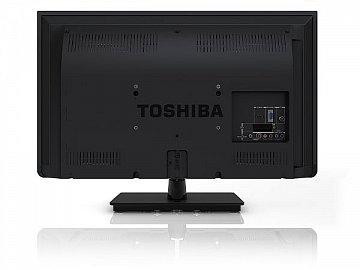 Rozhraní jsou soustředěna vpravo a odpovídají třídě televizoru. Nechybí SCART či digitální audio výstup.