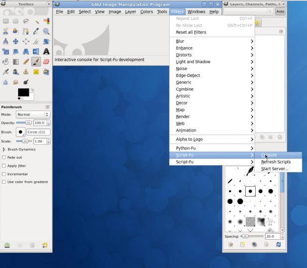Piseme Skripty Pro Graficky Editor Gimp Ve Scheme Root Cz