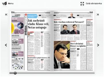 Hospodářské noviny ve flashi pomocí programu Floowie