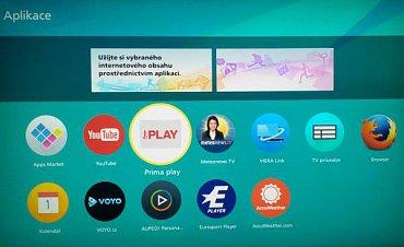 Tlačítko Apps vás vezme na tuto obrazovku. Škoda, že na ní zároveň není zobrazen aktuální kanál a nejde zvuk. Bohužel tu chybí i Media server a Přehrávač médií, který tu dříve byl. Rozhodně škoda!