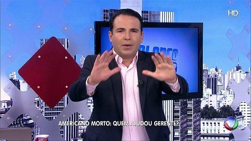 Ukázka z vysílání evropské verze brazilského kanálu Rede Record