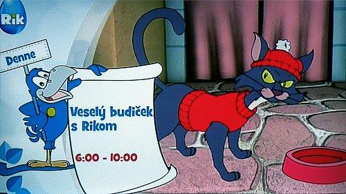 Ukázka ze zkušebního vysílání slovenské dětské televize Rik