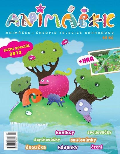 Obálka dětského časopisu Animáček, který poprvé vyjde příští pondělí.