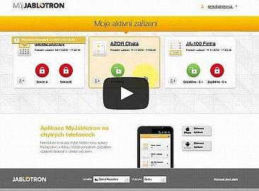 """Na stránkách Jablotronu se můžete podívat na několik ukázek z práce """"Samoobsluhy"""", resp. aplikace MyJablotron. Jak vidíte, zobrazí mj. i všechna vaše aktivní zařízení, resp. všechny aktivní alarmové systémy."""