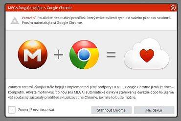 Mega nejlépe funguje v Google Chrome, říkají Dotcom a spol.