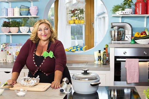 Halina Pawlovská při natáčení nového kulinářského pořadu TV Nova