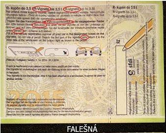 špatný pravopis na falešné známce