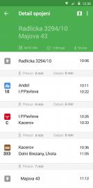 Nový vzhled aplikace Pubtran pro Android