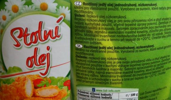 Řepkový olej nemusí být prostý kyseliny erukové