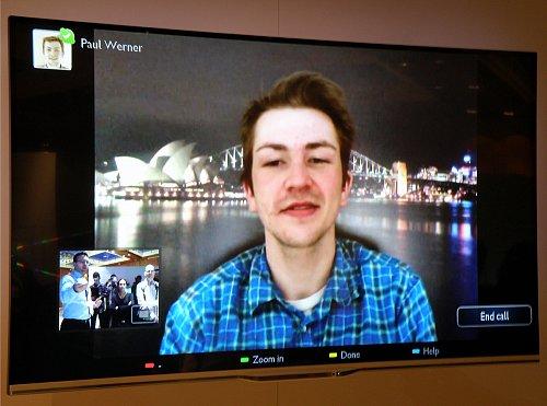 Skype hovor v praxi na televizoru Philips