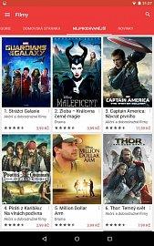 Filmy na Google Movies od studia Disney bylo možné včera koupit doslova za pár korun. Obrázek lze zvětšit.
