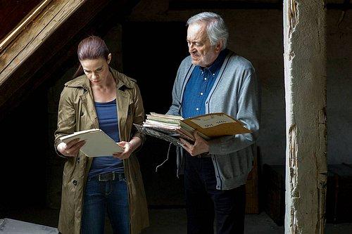 Zuzana Fialová a Milan Lasica při natáčení druhé řady Kriminálky Staré Město