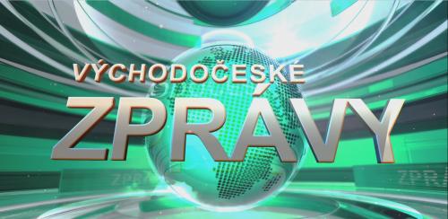 Ukázka z nového vizuálu Východočeských zpráv televize V1