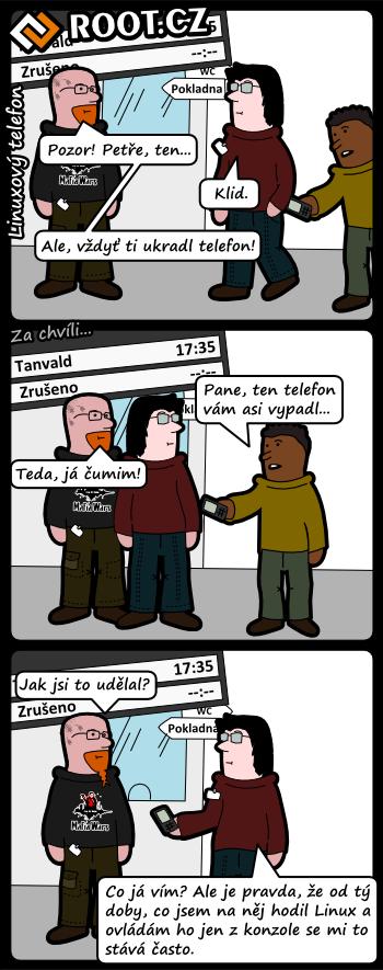 Komiks: Linuxový telefon