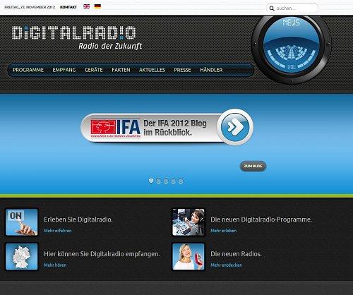 Německá verze webu Digitaradio